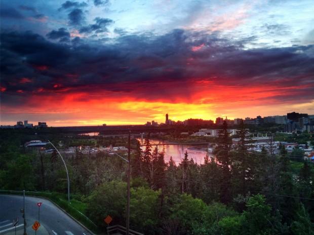 Edmonton Sunset - Randy Brososky